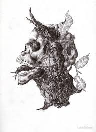 demonic tree skull by lukesalmon redbubble