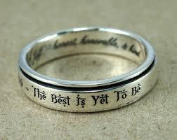 custom engraving jewelry custom spinner ring etsy