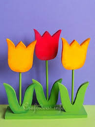 Wooden Flowers Spring Crafts Wood Crafts Wooden Tulips Decoration