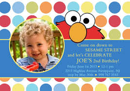Design For Birthday Invitation Card Elmo Birthday Invitations Kawaiitheo Com