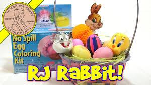 no spill easter egg coloring kit rj rabbit approved youtube