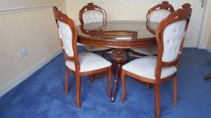 inlaid dining table and chairs italian inlaid dining table and 4 chairs with matching corner