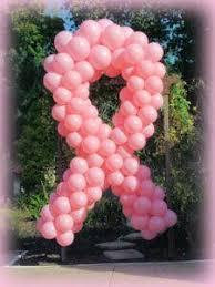 balloon ribbon on a pancreas cancer balloon ribbon sculpture