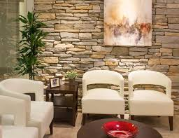 texture and lighting create a welcome inviting waiting room