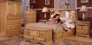 Queen Headboard Bookcase Oak Bedroom Furniture Nostalgia Bookcase Headboard American Made