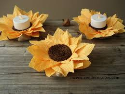 sunflower wedding decorations rustic sunflowers decoration set of 6 autumn wedding led