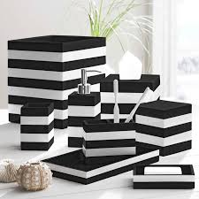 coastal stripe black white bathroom accessories white bathrooms