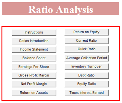 detailed ratio analysis template formal word templates