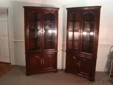 Curio Cabinets Pair Corner China Cabinet Ebay