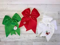 christmas hair bows christmas hair bow firefly needlework