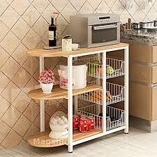 kitchen island shelves magshion kitchen island dining baker cabinet basket
