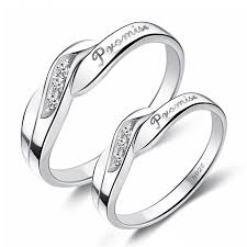 silver rings price images Promise quot three crystal decorated lover 39 s sterling silver rings jpg