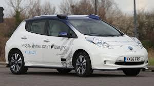 nissan leaf journey planner nissan runs first major tests of self driving cars on british