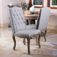 Dining Chair Deals Christopher Home Weathered Hardwood Studded Grey Dining