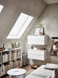 Wohnzimmer Einrichten Dachgeschoss Eket Schrank Mit 2 Schubladen Weiß Ikea Deutschland Wohnzimmer