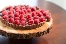 raspberry chocolate tart easy no bake recipe youtube