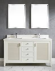 63 inch white finish cottage double sink bathroom vanity cabinet