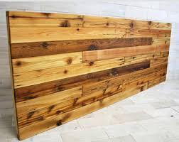 reclaimed wood headboard etsy
