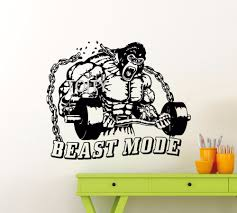 online get cheap sports wall decals aliexpress com alibaba group gym wall decal beast mode fitness sport vinyl sticker art decor mural china mainland
