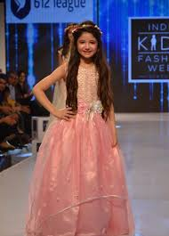 harshaali malhotra in light pink gown at india kids fashion week