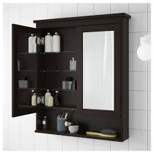 mirrored cabinets bathroom hemnes mirror cabinet with 2 doors black brown stain 32 5 8x6 1