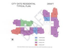 city gate condo residential plan top view singapore property