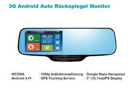 android tracker 3g auto android rückspiegel monitor dashcam mit maps