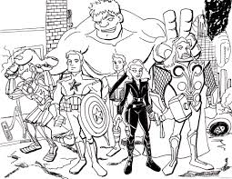 marvel avengers coloring pages printable coloring4free