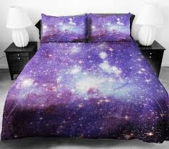 queen size bed sheet with galaxy print and artwork decor craze