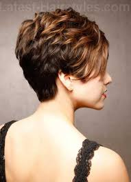 hair with shag back view short stacked haircut pixie cut pinterest short stacked