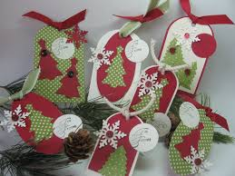handmade christmas gift tags stamping up north cricut christmas