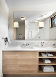 Wooden Bathroom Vanities by Custom Timber Vanity With Drawers And Shadow Line