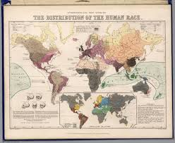 Race Map Ethnographical Map Showing The Distribution Of The Human Race