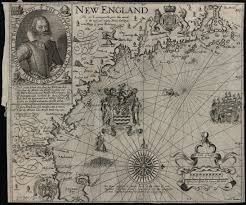 Paradise Massachusetts Map by John Smith U0027s Map Of New England 1635 Susannah Cotton 1624 U20131684