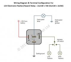 12v electronic flasher hazard relay 21wx2 5w 12 volt planet