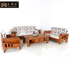 living room wood furniture elm wood sofa solid wood sofa fabric sofa corner living room with