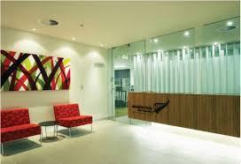 Contemporary Red Sofa Fascinating Commercial Office Interior - Commercial interior design ideas