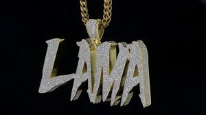 custom pendant mr chris designed lama initials yellow gold bust diamonds