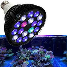 Reef Aquarium Lighting Amazon Com Niello 18w Led Aquarium Light Bulb Hood Lighting For