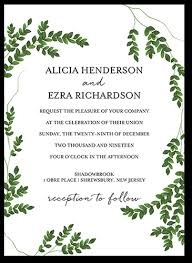 wedding invitations greenery charming greenery 5x7 stationery card by weiss shutterfly