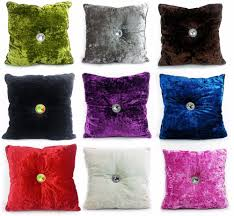 Peacock Colour Cushions Velvet Cushions Home Decor Ebay
