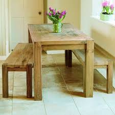 Simple Bench Table And Chairs For Kitchen Room Amazing Decor - Bench style kitchen table