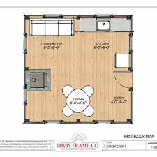 16 x 24 floor plan plans by davis frame weekend timber frame cabin plansroom bath single story loft small with planscabin 24 x