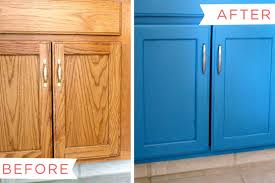Painting A Bathroom Vanity Before And After by How To Paint A Bathroom Vanity Cabinet Ehow