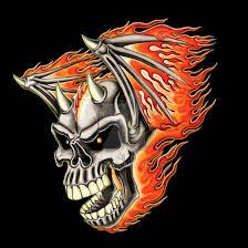 flying flaming skull by britt8m on deviantart