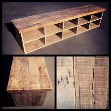 reclaimed wood bench with storage u2013 heirlooms and hardware