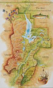 Grand Teton Map National Parks U2014 Maps And Illustrations By Mike Reagan