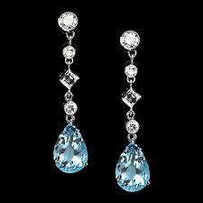 aquamarine drop earrings semi precious earrings aquamarine drop earrings with