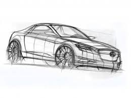 sketching a mercedes benz coupe with sections car body design