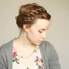 braided pinup hairstyles double braided gibson tuck updo tutorial for short hair looks i